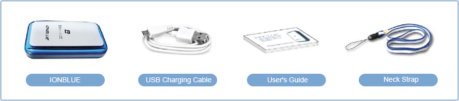 IONBLUE, USB Charging Cable, User's Guide, Neck Strap